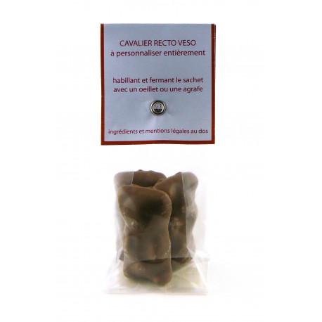 Sachet Cavalier Oursons Guimauve Chocolat