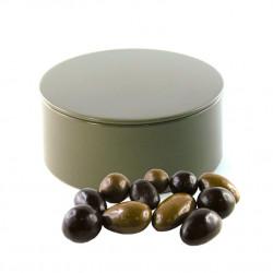 Boîte métal ronde Fruits Secs Chocolats