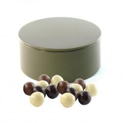 Boîte métal ronde Boules Céréales Chocolat