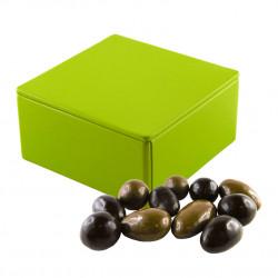 Boîte Métal Carrée Fruits Secs Chocolats