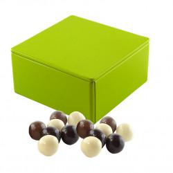 Boîte Métal Carrée Boules Céréales Chocolat