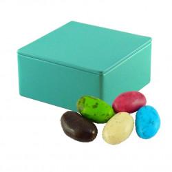 Boîte Métal Carrée Amandes Chocolat Praliné