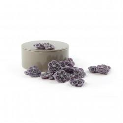 Boîte métal ronde Bonbons à la Violette
