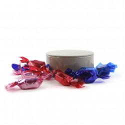 Boîte métal ronde Bonbons Fruits Rouges
