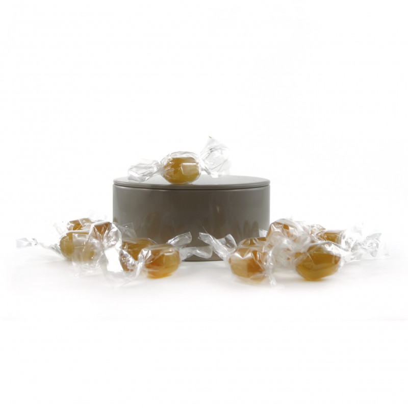 bo te m tal ronde mini bonbons au miel www. Black Bedroom Furniture Sets. Home Design Ideas