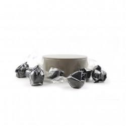 Boîte métal ronde bonbons feuilletés pralinés