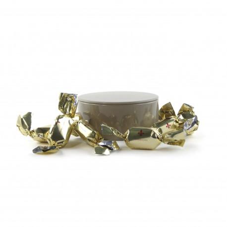 Boîte métal ronde bonbons pomme de Versailles