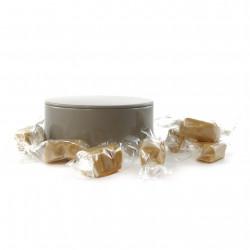 Boîte métal ronde caramels beurre salé