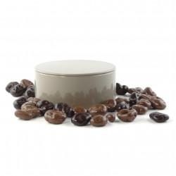 Boîte métal ronde raisins au chocolat