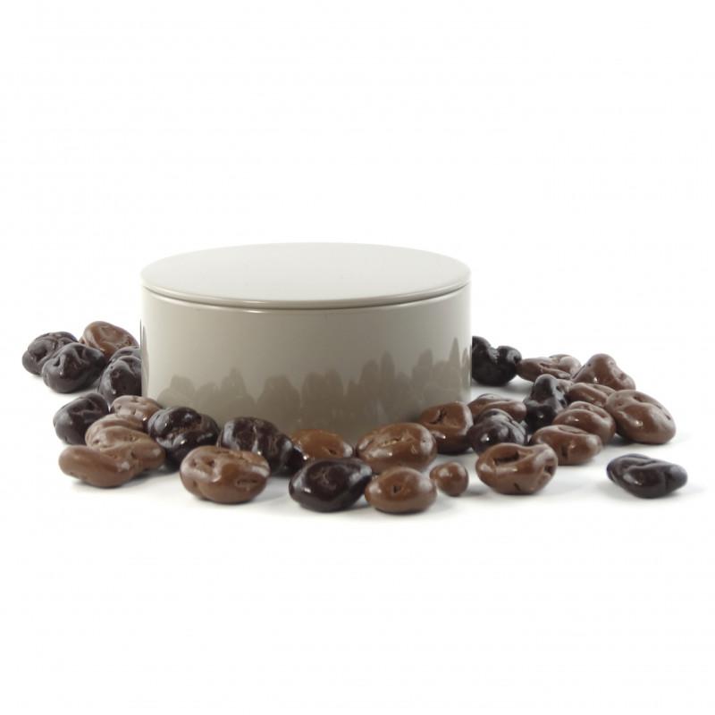 bo te m tal ronde raisins au chocolat. Black Bedroom Furniture Sets. Home Design Ideas