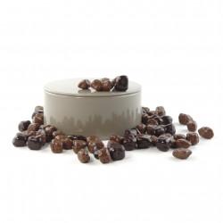 Boîte métal ronde oranges confites chocolat