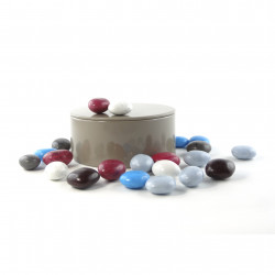 Boîte métal ronde fondants caramel chocolat