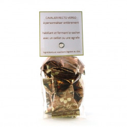 Sachet Cavalier Truffes Chocolat Eclats Noisettes
