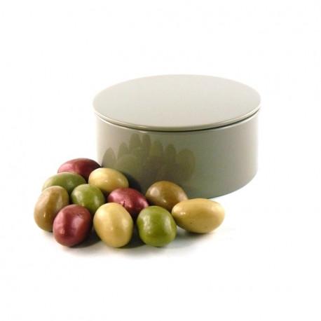 Boîte métal ronde Oeufs Chocolat Guimauve