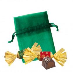 Sachet Organdi PM Truffes Chocolat Macaron Framboise