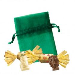 Sachet Organdi PM Petits Sujets Chocolat