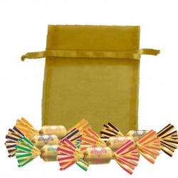 Sachet Organdi GM Bouchées Chocolat Fourrés