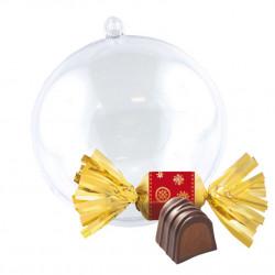 Boule de Noël Bouchées Chocolat Praliné