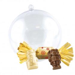 Boule de Noël Petits Sujets Chocolat Praliné