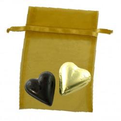 Sachet Organdi GM Coeurs Chocolat Ganache
