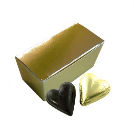 Mini Ballotin Coeurs Chocolat Noir Ganache